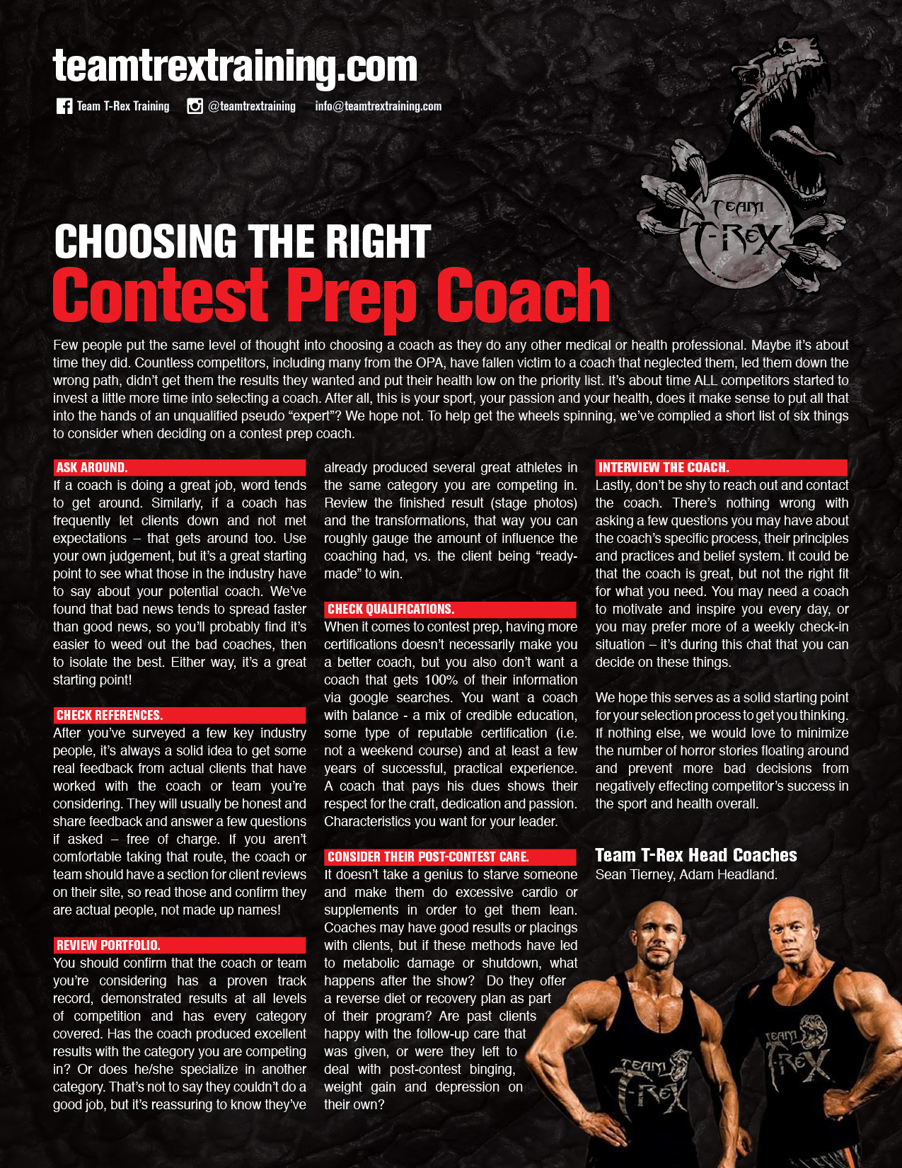 Choosing the Right Contest Coach